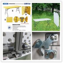 6ft Einfache Aufbewahrung Falten in Halbtabelle / Blasform HDPE Plastik Beweglicher Tisch / Innenverpflegung Bankett-Speisen Leichtes leichtes tragendes Tisch (HQ-XZ183)