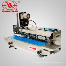Máquina de seladora contínua de tampo de mesa Hongzhan CBS1000 com impressora de data