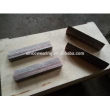 Chocky Bar und Tragen Button tragen Platte Mn13Cr2 Mn18Cr2 Mn22Cr2 High Chrome Cr26 Cr20Mo Cr15Mo Martensitische Mangan Keramik