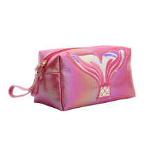 Mermaid Tail Makeup Beauty Pouch Bag Waterproof Portable Mini Cosmetic Bag Laser PU Leather Cosmetic Makeup Pouch