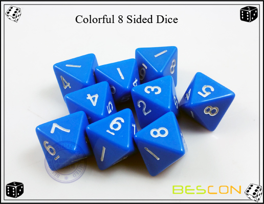 Colorful 8 Sided Dice-5