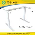 2 Beine sitzen zu stehen manuelle ergonomische höhenverstellbare Schreibtischgestell