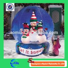 Globe de neige gonflable à neige gonflable en forme de neige personnalisée à vendre