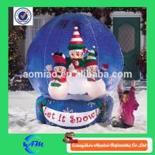 Custom snow globe giant inflatable snow globe snow ball for sale