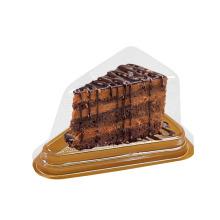 Caja de pastel transparente de plástico pequeña triangular