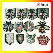 Online Manufacturer for Hot Fix Number Patch Embroidery with Rhinestone Patch export to Italy Exporter