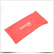 Red Silk Screen Printing Superfine Fiber Phone Pouch