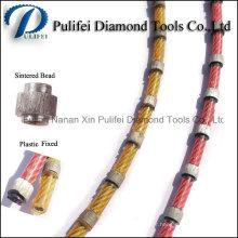 Scie à fil fixe de corde de diamant en plastique pour le profil de forme de bloc de granit