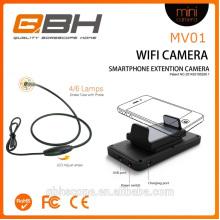 2016 wifi video semirrígido endoscopio teléfono inteligente Android
