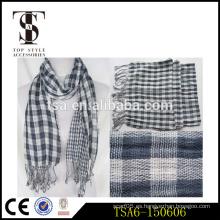 Regalo 100% de la bufanda de la señora lateral del algodón dos el mejor para las bufandas de la manera de la Navidad