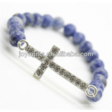 High Quality Friendship Sodalite With Diamante Alloy Piece