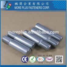 Made in Taiwan 316 Edelstahl Pin mit Gewinde mit flachem Endpunkt Spezial Pin