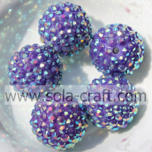 Dark Purple AB Wholesale Resin Rhinestone Beads 18*20MM Solids Shinning Beads