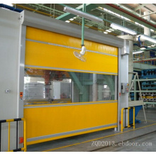 Puerta automática de alta velocidad para persianas de tela suave de PVC