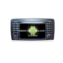 Quad core!car dvd with mirror link/DVR/TPMS/OBD2 for 7inch touch screen quad core 4.4 Android system R Class