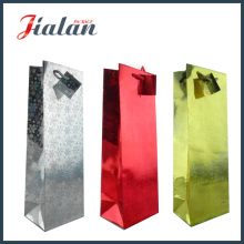 Holographic Laminated Art Paper Wine Bottle Shopping Gift Paper Bag