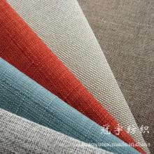Tecido de linho decorativo de poliéster com apoio para sofá