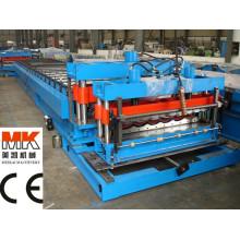 Azulejos de metal coloreados / tejas esmaltadas de la azotea / maquinaria de fabricación de la teja de tejado de acero