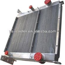 Intercambiador de calor aire-aceite para compresor