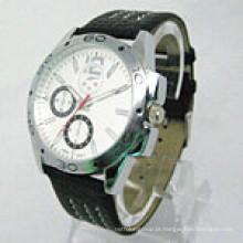 Relógio de pulso de aço inoxidável do relógio de pulso de aço barato dos homens Watchstainless do OEM