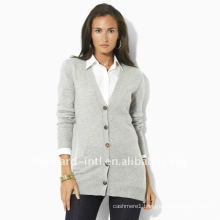 OEM service: 100% cashmere women long knitted cardigan