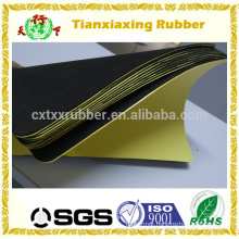 Rubber backing adhesive sheet, non slip self adhesive rubber sheet