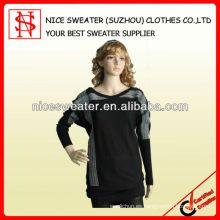 señoras moda korean mano tejida a mano suéter largo diseño