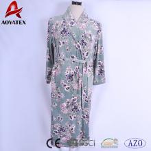 Супер мягкой микрофибры с цветочным набивным новый micromink стиль женщины халат