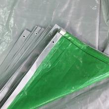 110gsm Green Silver Reinforced Tarpaulin