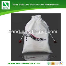 high quality nonwoven red shoes and bag to match