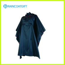 New Desgin Front Pocket Foldable Nylon PU Raincoat Rpy-020