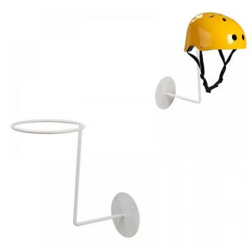 Soporte de exhibición de almacenamiento de soporte de estante de sombrero de metal blanco con recubrimiento en polvo de alta calidad