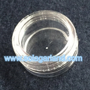 1.6*3CM Mini Clear Plastic Jewelry Box Small Cylinder Storage Containers
