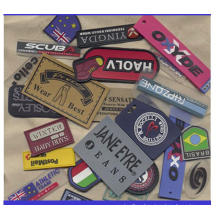 Wholesale Factory Direct Sale Fashion Emboss Logo Brown Custom Jeans Leather Label, Leather Garment Patch