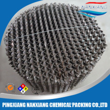 Stainless steel structured packing for distillation column