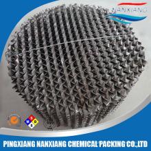 Embalagem estruturada de aço inoxidável para coluna de destilação