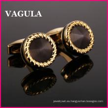 VAGULA calidad Catseye Gemelos Cuff Links L52505