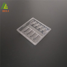 Customized 1ml*5 clear plastic tray packaging for ampoule bottles
