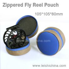 Venda por atacado de qualidade superior zippered Fly Reel Pouch