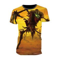 Camiseta sublimada completa de la venta caliente modificada para requisitos particulares