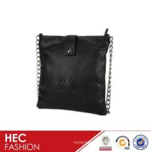 bolsa de ombro de couro designer padrão agradável para senhora