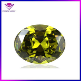 AAA Oval 7*9mm Peridot Gemstone CZ Stone
