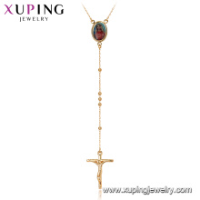 44896 Xuping новая мода фоторамка Иисуса крест розария ожерелье