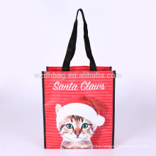 Eco Reusable Laminated Polypropylene PP Woven Shopping Tote Bag grocery For Promotion, Supermarket