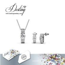 Destino joyería cristal de Swarovski Luxx colgante y pendientes