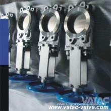 Ss Wafer Type Válvula de compuerta de cuchilla con volante