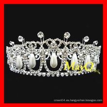 Nuevo diamante del diseño y tiara de la boda de la perla