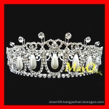 New design diamond and pearl wedding tiara