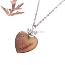 Collier de coquille de coeur d'amour pour toujours de mode pour le cadeau de Valentinese