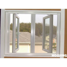 Single Tempered Saftety Glass / Double Glazed Aluminum Alloy Casement Type Window